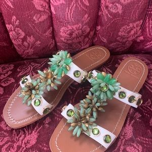 Tory Burch 'Sydney' beaded sandal